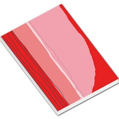 Red And Pink Lines Large Memo Pads