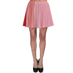 Red And Pink Lines Skater Skirt by Valentinaart