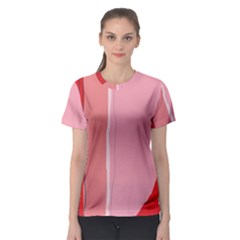 Red And Pink Lines Women s Sport Mesh Tee by Valentinaart