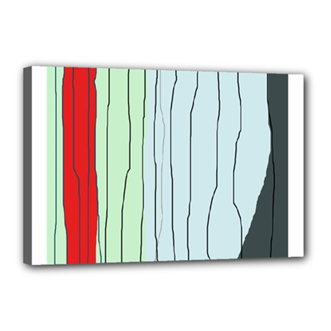 Decorative Lines Canvas 18  X 12