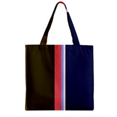 Decorative Lines Zipper Grocery Tote Bag