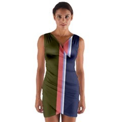 Decorative Lines Wrap Front Bodycon Dress by Valentinaart
