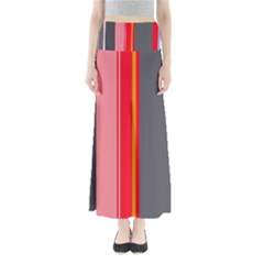 Optimistic Lines Maxi Skirts by Valentinaart