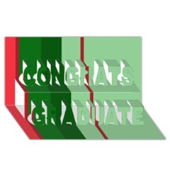 Green And Red Design Congrats Graduate 3d Greeting Card (8x4)  by Valentinaart