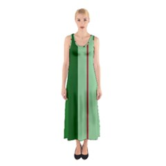 Green And Red Design Sleeveless Maxi Dress by Valentinaart