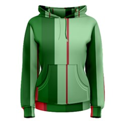 Green And Red Design Women s Pullover Hoodie by Valentinaart