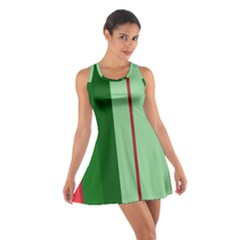 Green And Red Design Racerback Dresses by Valentinaart