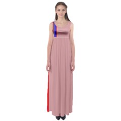Pink Elegant Lines Empire Waist Maxi Dress