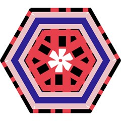 Red Abstraction Mini Folding Umbrellas by Valentinaart