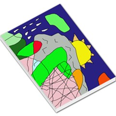 Crazy Abstraction Large Memo Pads