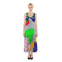Crazy Abstraction Sleeveless Maxi Dress by Valentinaart