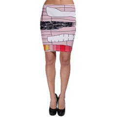 Worms Bodycon Skirt by Valentinaart