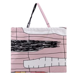 Worms Zipper Large Tote Bag by Valentinaart