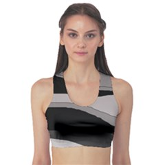 Black And Gray Design Sports Bra by Valentinaart