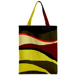 Decorative Abstract Design Zipper Classic Tote Bag by Valentinaart