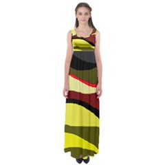 Decorative Abstract Design Empire Waist Maxi Dress