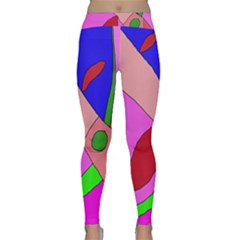 Pink Abstraction Yoga Leggings by Valentinaart