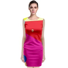 Colorful Abstraction Classic Sleeveless Midi Dress by Valentinaart