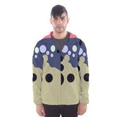 Elegant Dots Hooded Wind Breaker (men) by Valentinaart