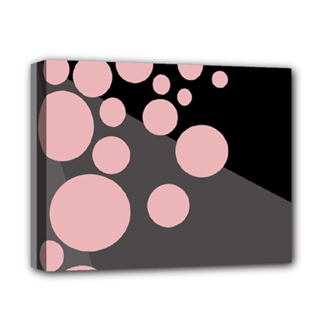 Pink Dots Deluxe Canvas 14  X 11
