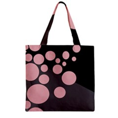 Pink Dots Zipper Grocery Tote Bag by Valentinaart