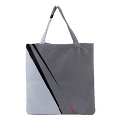 Elegant Gray Grocery Tote Bag by Valentinaart