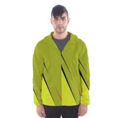 Yellow Elegant Design Hooded Wind Breaker (men) by Valentinaart