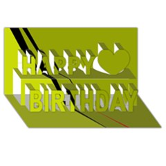 Yellow Elegant Design Happy Birthday 3d Greeting Card (8x4)  by Valentinaart