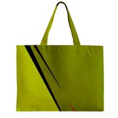 Yellow Elegant Design Zipper Mini Tote Bag by Valentinaart