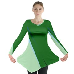 Green Design Long Sleeve Tunic  by Valentinaart