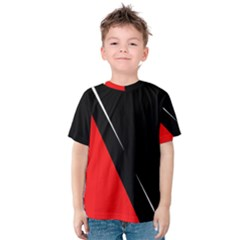 Black And Red Design Kid s Cotton Tee by Valentinaart