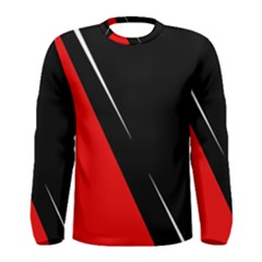 Black And Red Design Men s Long Sleeve Tee by Valentinaart