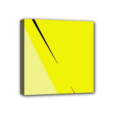 Yellow Design Mini Canvas 4  X 4