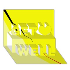 Yellow Design Get Well 3d Greeting Card (7x5)  by Valentinaart