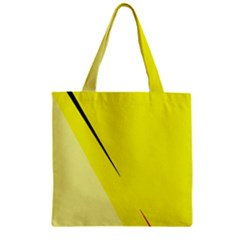 Yellow Design Zipper Grocery Tote Bag by Valentinaart