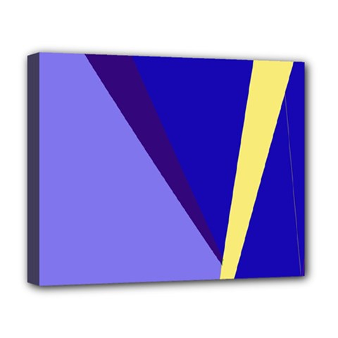 Geometrical Abstraction Deluxe Canvas 20  X 16   by Valentinaart