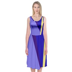 Geometrical Abstraction Midi Sleeveless Dress by Valentinaart