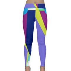 Geometrical Abstraction Yoga Leggings by Valentinaart
