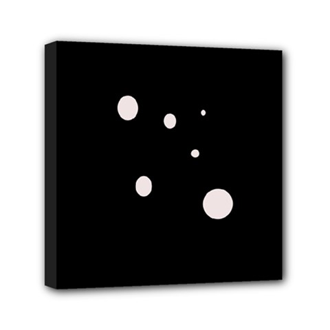 White Dots Mini Canvas 6  X 6  by Valentinaart