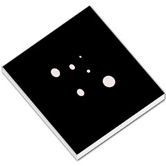 White Dots Small Memo Pads by Valentinaart