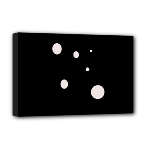 White Dots Deluxe Canvas 18  X 12   by Valentinaart
