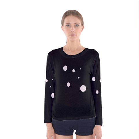 White Dots Women s Long Sleeve Tee by Valentinaart