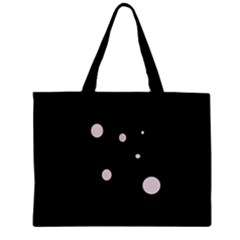 White Dots Zipper Mini Tote Bag by Valentinaart