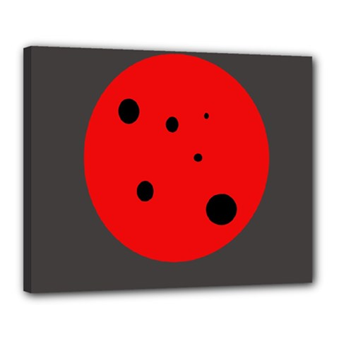 Red Circle Canvas 20  X 16