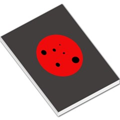 Red Circle Large Memo Pads by Valentinaart