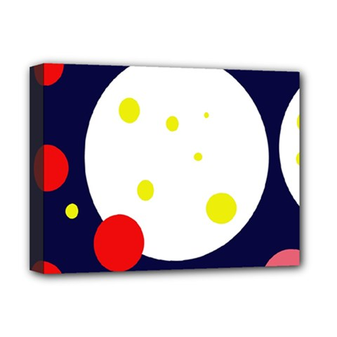 Abstract Moon Deluxe Canvas 16  X 12   by Valentinaart