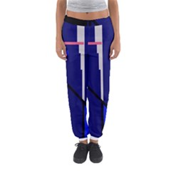 Blue Abstraction Women s Jogger Sweatpants
