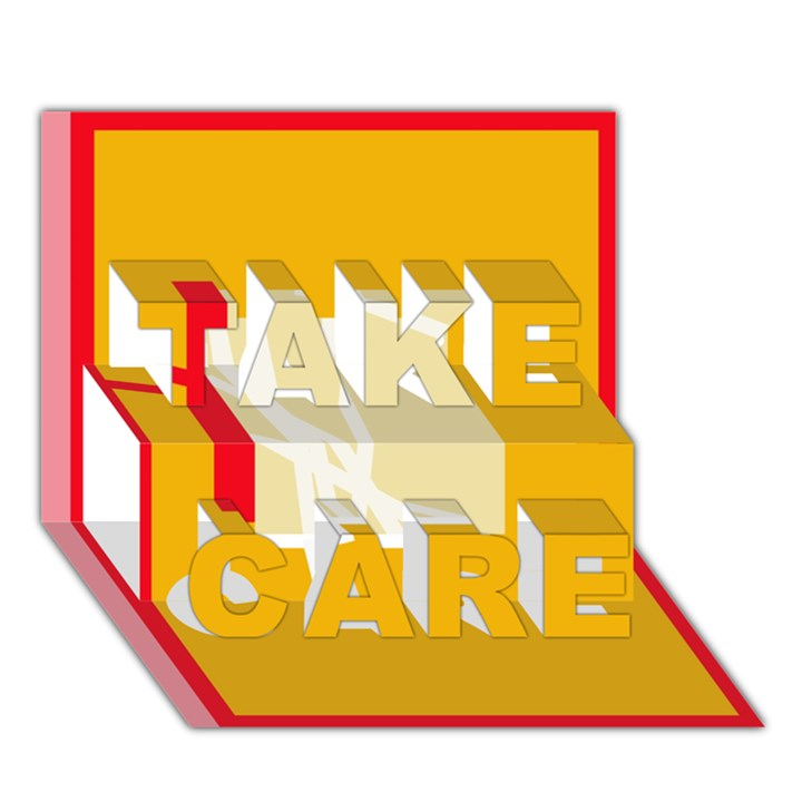 Basketball TAKE CARE 3D Greeting Card (7x5)