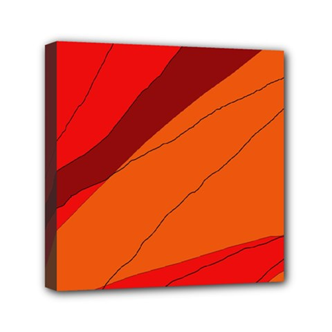 Red And Orange Decorative Abstraction Mini Canvas 6  X 6
