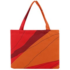 Red And Orange Decorative Abstraction Mini Tote Bag by Valentinaart